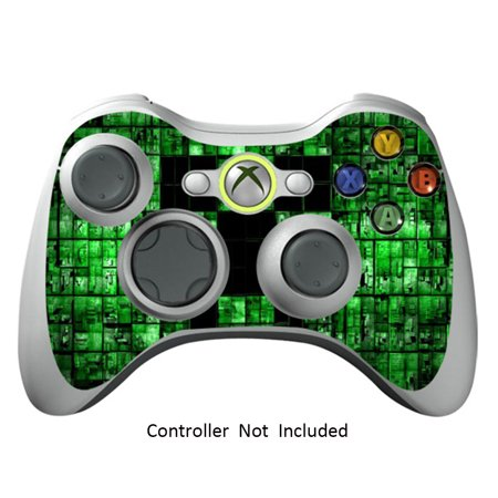 Skin Stickers for Xbox 360 Controller - Vinyl Leather Texture Sticker for X360 Slim Wired Wireless Game Controllers - Protectors Stickers Controller - Green Digicamo (Green Xbox 360 Controller Wired)