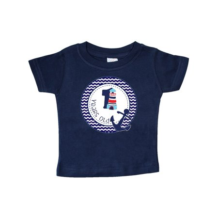 1 Years Old Nautical Anchor Boy Birthday Baby T Shirt