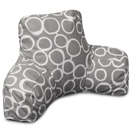 Majestic Home Goods Indoor Gray Fusion Reading Pillow With Arms