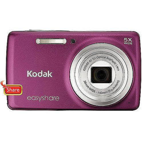 "Kodak EasyShare M552 Dark Pink 14MP Digital Camera w/ 5x Optical Zoom, 2.7"" LCD Display"