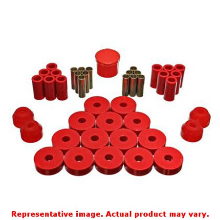 Energy Suspension Independent Rear Suspension Bushing Set 2 18104R Red Fits Jee