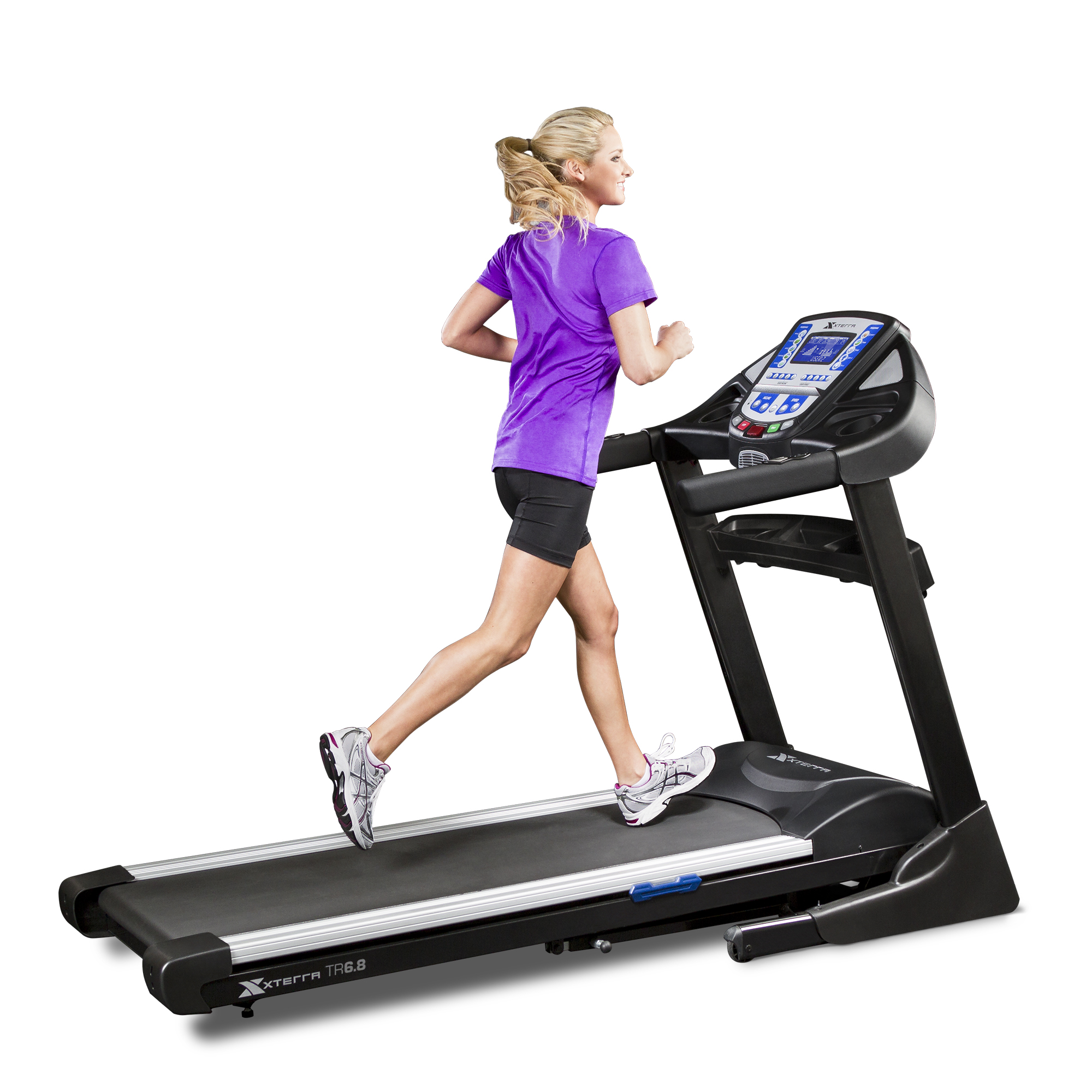 XTERRA Fitness TR6.8 Folding Treadmill with Heart Rate Chest Strap