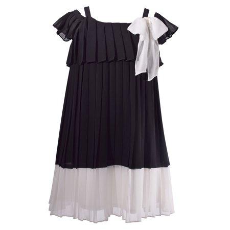 Bonnie Jean Girls Black Dress Formal Chiffon 12