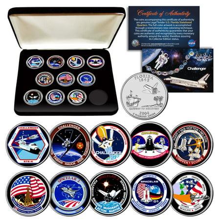 Box Shuttle - SPACE SHUTTLE CHALLENGER MISSION NASA Florida Statehood Quarters 10-Coin Set Box