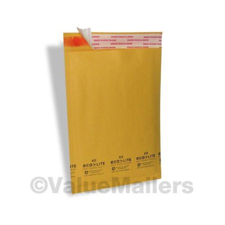 Details about  100 #0 KRAFT ECOLITE 6.5x10 BUBBLE MAILERS PADDED ENVELOPES MAILING BAGS CD DVD
