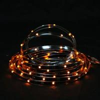 18' Orange LED Indoor/Outdoor Christmas Linear Tape Lighting - Black Finish
