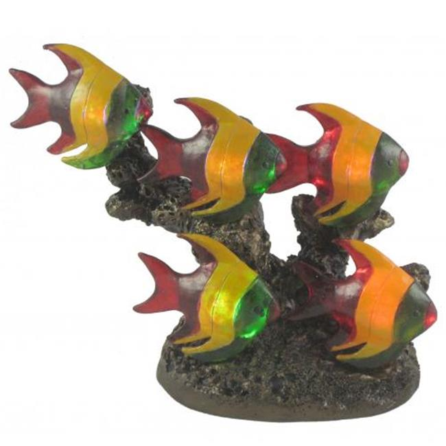 Standard Specialty 1707 New Gorgeous Five Led Glass, Tropical Fish Table Lamp