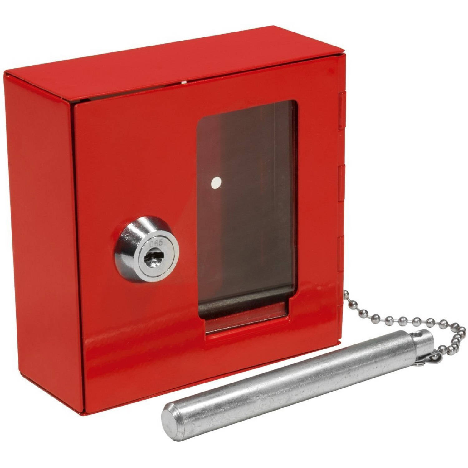 Barska Breakable Emergency Key Box with Attached Hammer B Style
