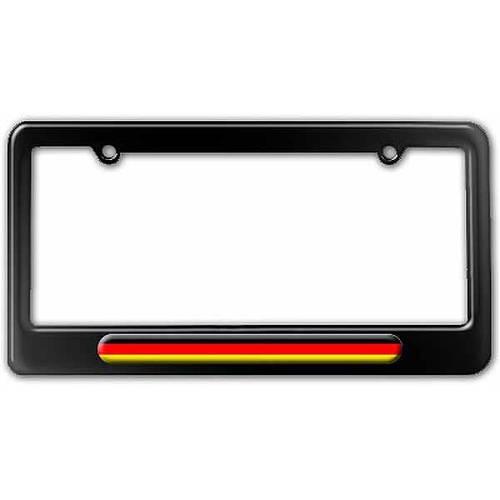 German License plate frame Tag holder Germany Flag Car Parts BLACK Metal Auto
