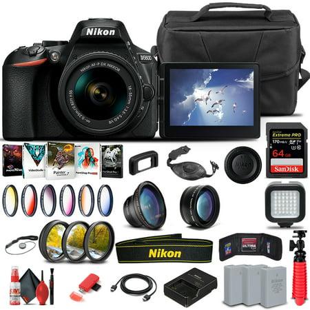Nikon D5600 DSLR Camera W/ 18-55mm Lens 1576 - Advanced Bundle