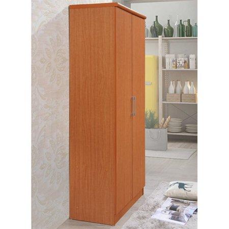 Hodedah 2 Door Armoire with 4 Shelves in Cherry - image 1 de 6