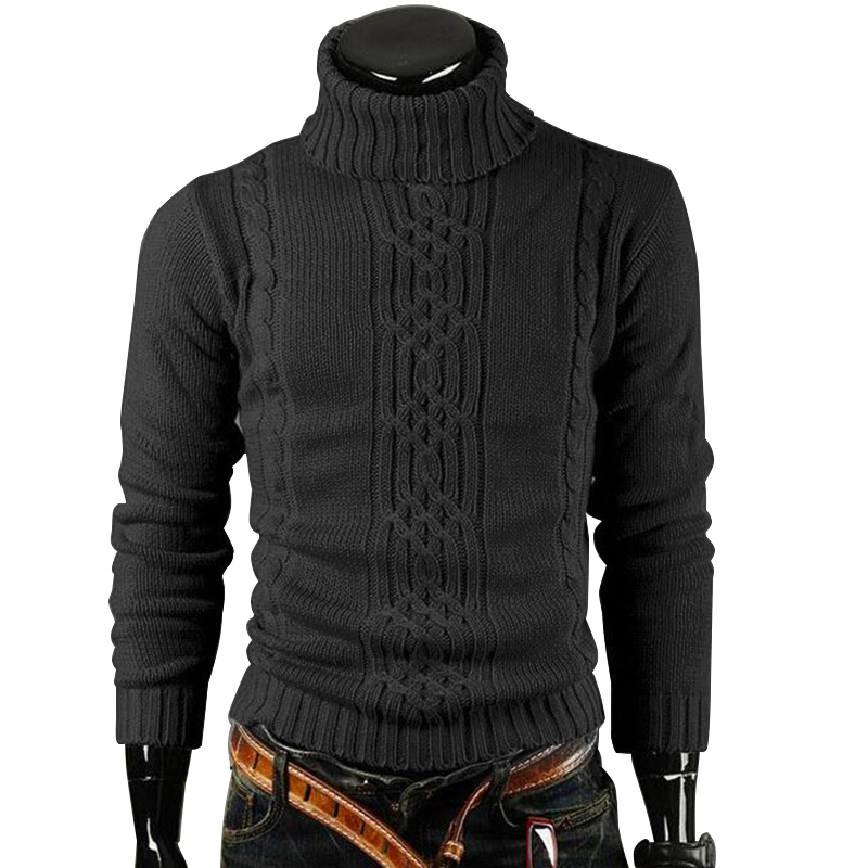 Men's Knitted Pullover Casual Sweater Men Pullovers Autumn Winter Long Sleeve TurtleNeck Knitwear Sweaters