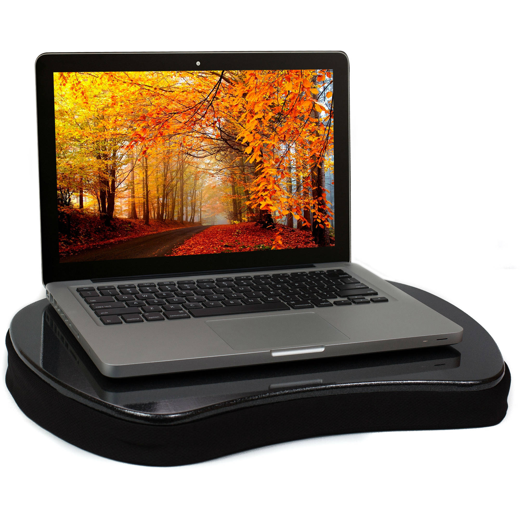 Sofia Sam Mini Memory Foam Lap Desk With Tablet Slot Black