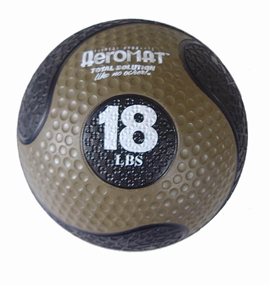 Deluxe 10 in. Medicine Ball in Black and Bronze