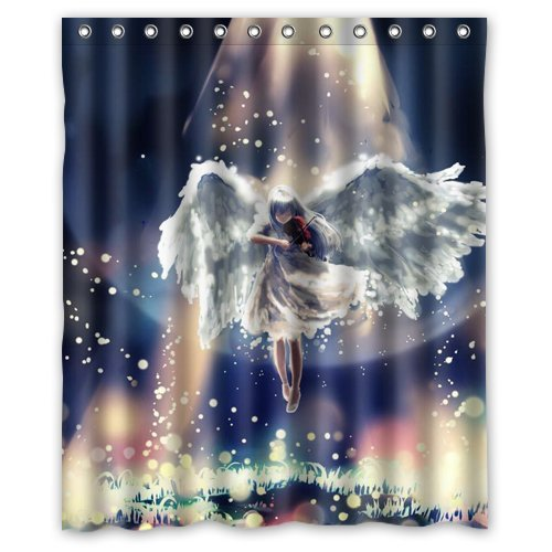 DEYOU Contracted Dream Angel Shower Curtain Polyester Fabric Bathroom Shower Curtain Size 60x72 inches