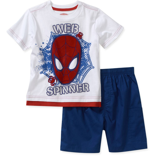 Spiderman-marvel Marvel Baby Boys' Spiderman 2 Piece Tee