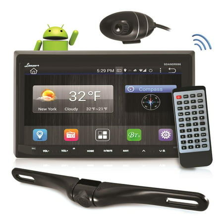 PYLE SDANDR696 - Android Stereo Receiver & Dual Camera System, HD DVR Dash Cam, Rearview Backup Camera, 7'' Touchscreen Display, Wi-Fi Web Browsing, Bluetooth Streaming