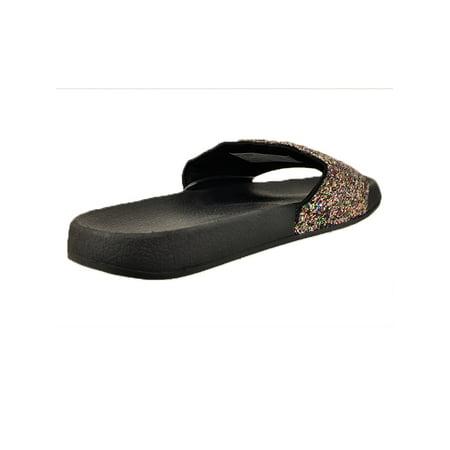 Time and Tru Women's Glitter Slide Sandal