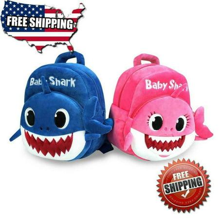Baby Shark Backpack Plush Doll Cartoon Animal Bag Children Kids School (Ball Cartoon Animal)