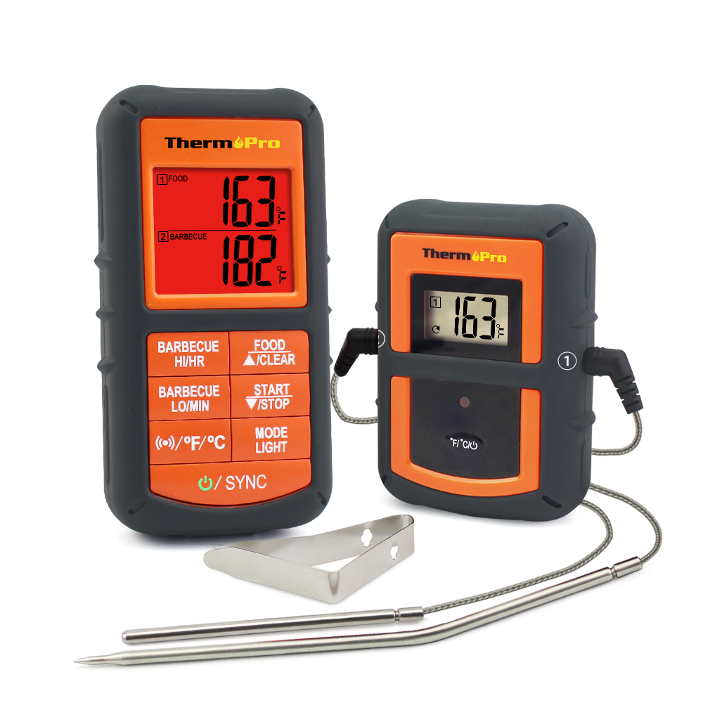 ThermoPro TP08 Wireless Remote Digital Kitchen Cooking Meat Thermometer - Dual Probe for BBQ Smoker Grill Oven - Monitors Food from 300 Feet Away