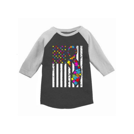 0bbf62bcd Awkward Styles Autism Flag Raglan Shirt for Toddlers Autism Awareness Shirts  for Kids Autism American Flag Jersey Shirt for Boys Autism Color Flag  Baseball ...