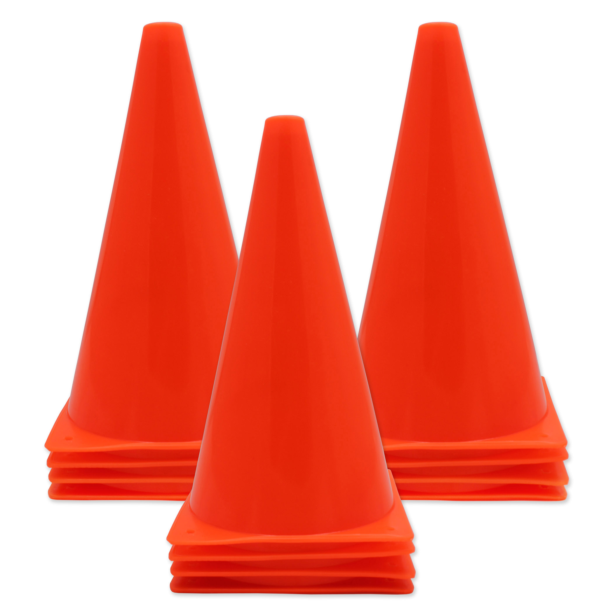 Safety Cone 9In With Base, Pack of 12