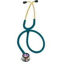 3M Classic II Pediatric Stethoscope, Rainbow-finish Chestpiece, Caribbean Blue Tube, 28 inch, 2153
