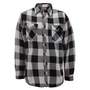 Mens Premium Cotton Button Up Long Sleeve Plaid Comfortable Flannel Shirt (#5 - White/Black, XL)