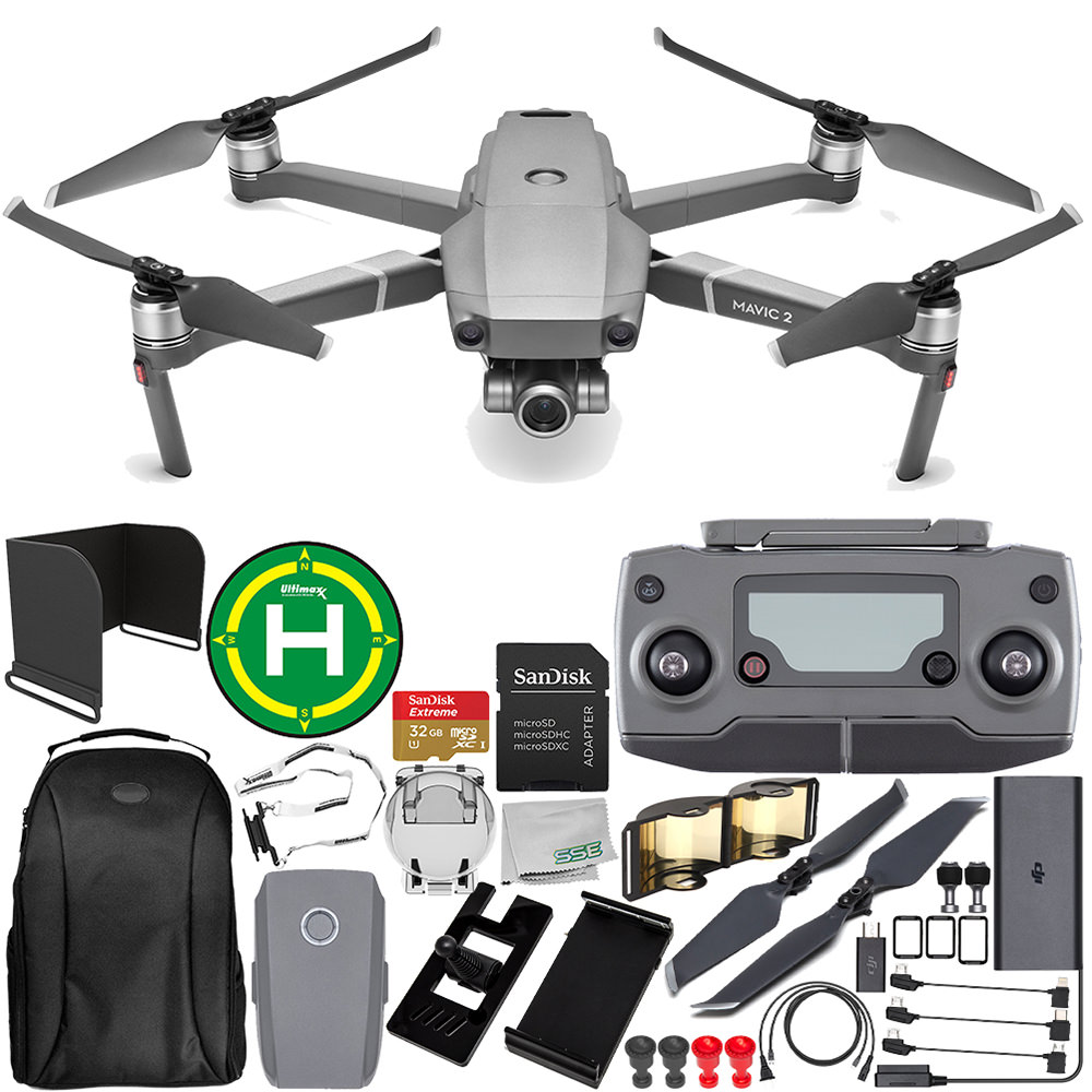 DJI Mavic 2 Zoom Drone Quadcopter with 24-48mm Optical Zoom Camera Everything You Need Starter Bundle