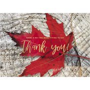CEO Cards Thanksgiving Foil Printed Greeting Cards Box Set of 25 Cards & 26 Envelopes - TH1802