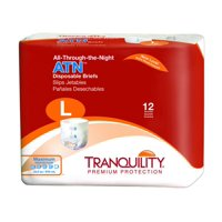 """Tranquility ATN Adult Incontinent Brief, Tab Closure, Disposable, Heavy Absorbency, Large 45"""" - 58"""", 10 Packs of 12"""