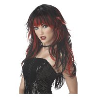 Adult Red And Black Tempting Tresses Wig