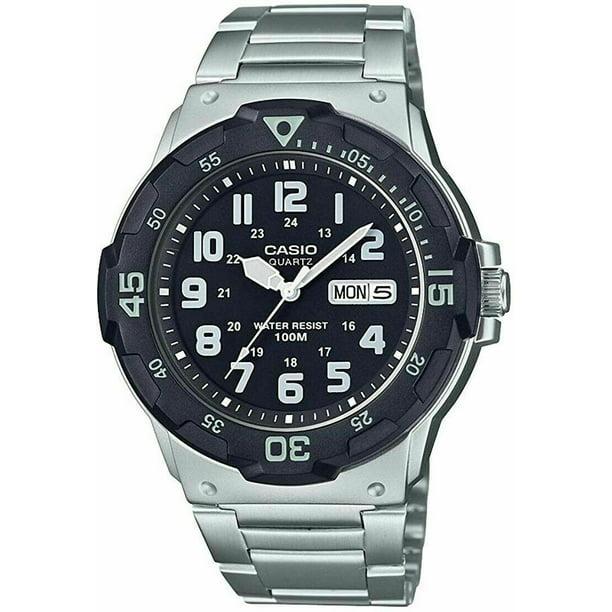 Casio Men's Dive Style Bracelet Watch, Black Dial