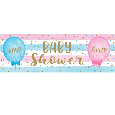 Creative Converting Gender Reveal Balloons Large Banner - Welcome Home Balloons And Banners