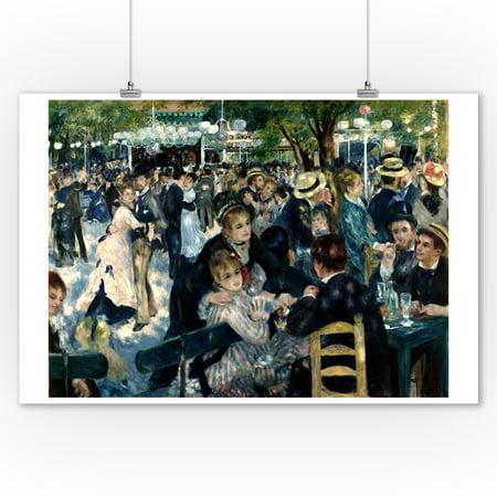 Bal de moulin de la Galette - Masterpiece Classic - Artist: Pierre-Auguste Renoir c. 1876 (9x12 Art Print, Wall Decor Travel