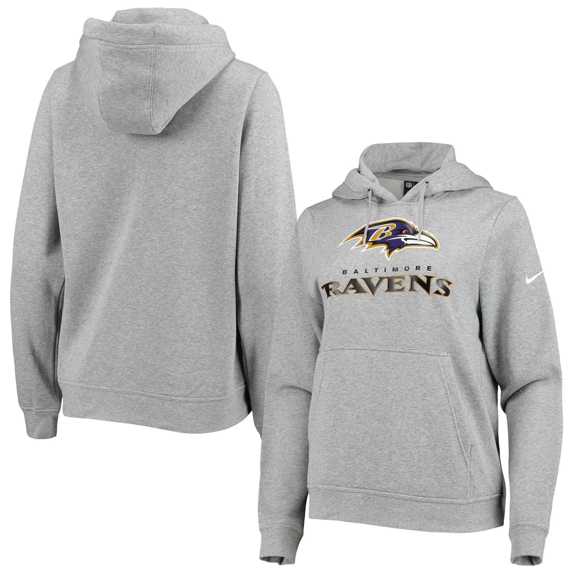 Baltimore Ravens Nike Women's Club Tri Blend Pullover Hoodie Heathered Gray