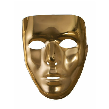 Gold Full Face Mask Halloween Costume Accessory - Halloween Color Mask Printables