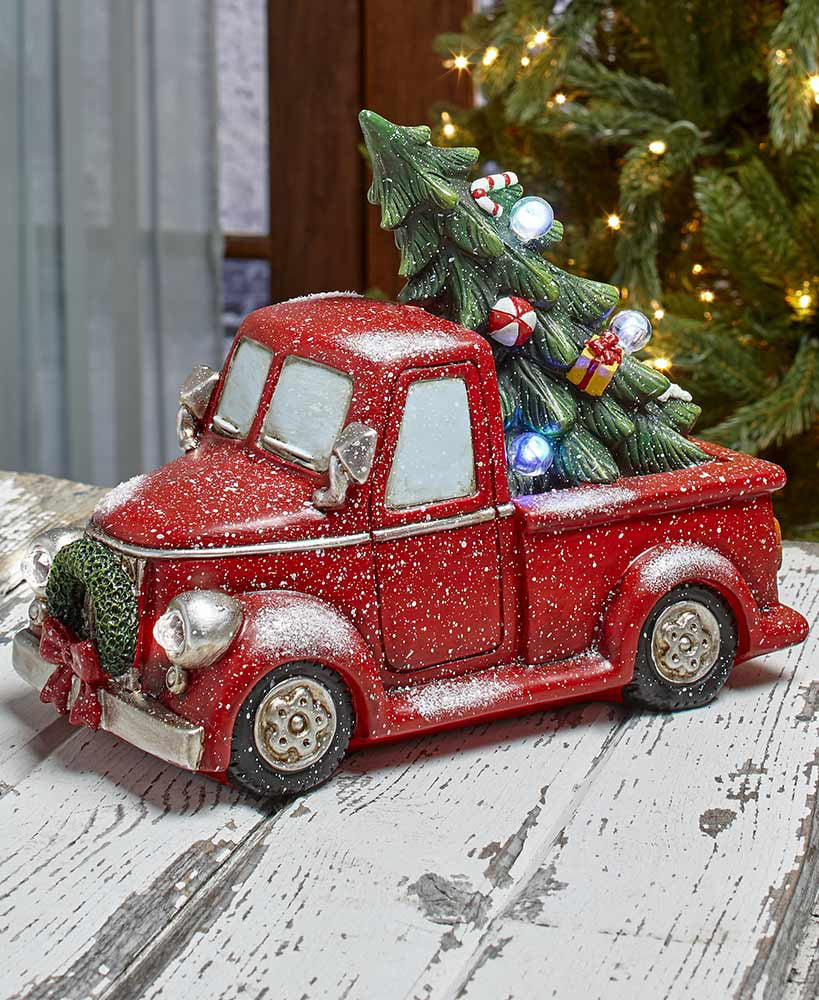 Free Christmas Tree Pick Up: The Lakeside Collection Vintage Lighted Holiday Red Pick