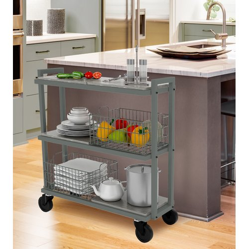 urb SPACE Transformable 3 Tier Mobile Utility Cart