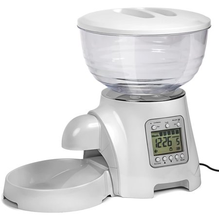 - Paws & Pals Paws & Pals Automatic Pet Dog Cat Feeder Food Bowl - Programmable Voice Recorder, Timed Portions, Meal Control
