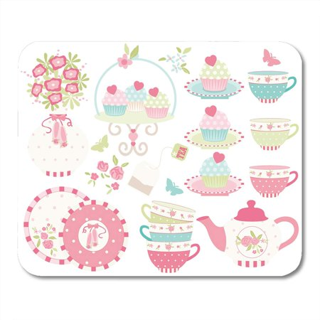 LADDKE Party Chic Ballet Princess Tea Garden 2 Shabby Cupcake Mousepad Mouse Pad Mouse Mat 9x10 inch](Shabby Chic Party Supplies)