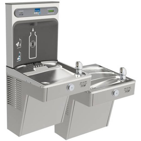 Bi Level Filter - Elkay LVRCGRNTL8WSK Filtered EZH2O Bottle Filling Station with Bi-Level Green Vandal-Resistant Cooler