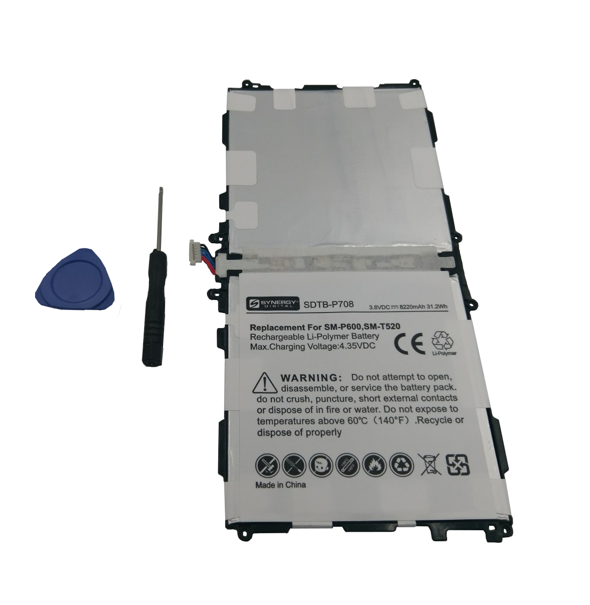 Samsung SM-P601 Tablet Battery (Li-Pol 3.8V 8220mAh) - Re...