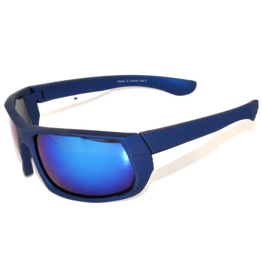 OWL Eyewear Sport Sunglasses 9273 Blue Frame Smoke Lens