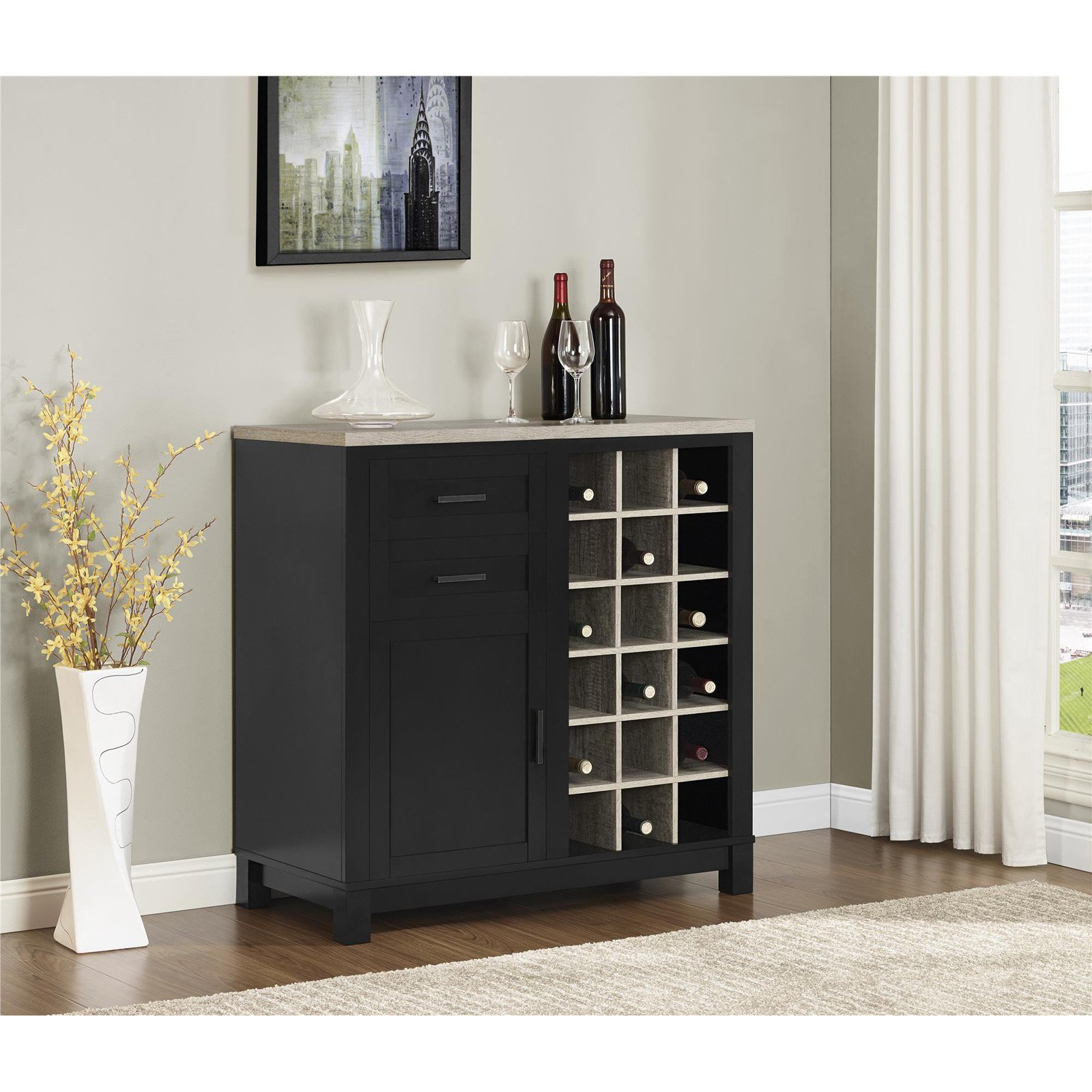 Altra Furniture Carver Bar Cabinet
