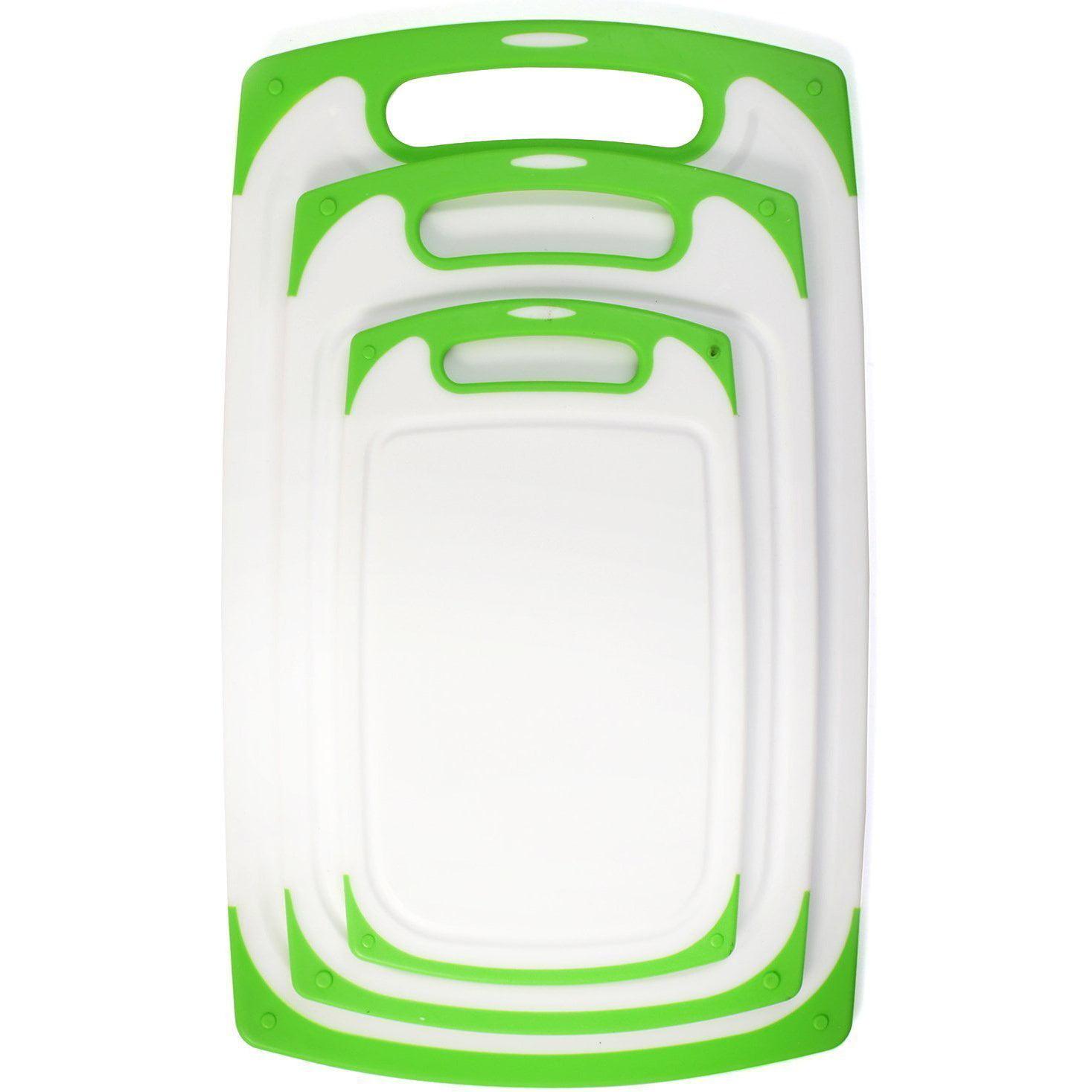Belwares 3-Piece Dishwasher-Safe Plastic Cutting Board Set with Non-Slip