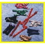 Alexander Costume 61-056-G Sequin Suspenders, Gold