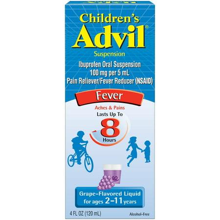 Advil Children's Suspension Liquid-Grape-4 Oz