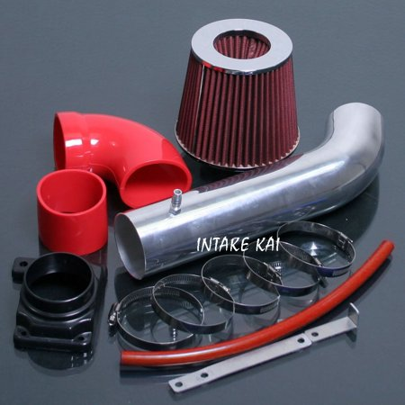2000 2001 2002 2003 2004 2005 Mitsubishi Eclipse SPYDER GS GT GTS RS 2.4 2.4L 3.0 3.0L Air Intake Kit Systems (RED) ()