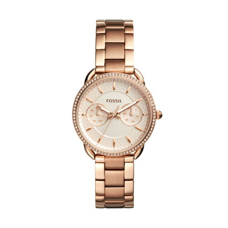 Fossil Women's Tailor Rose-Gold Stainless Steel Multifunction Watch (Style: ES4264) (Gold Watch For Women Fossil)